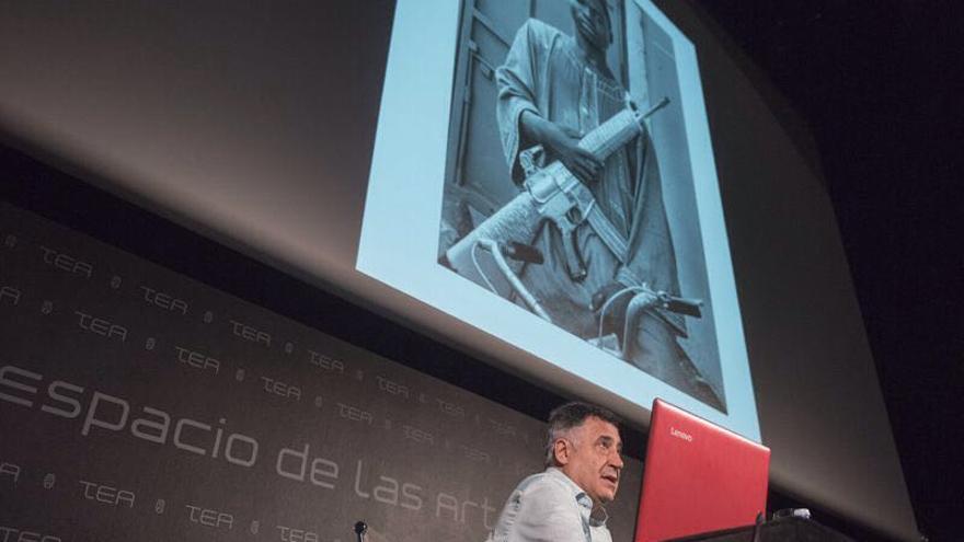 El periodista Gervasio Sánchez, este jueves en TEA