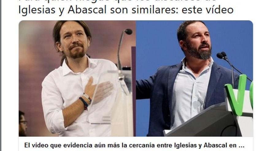 Iglesias y Abascal tuit de LaSexta