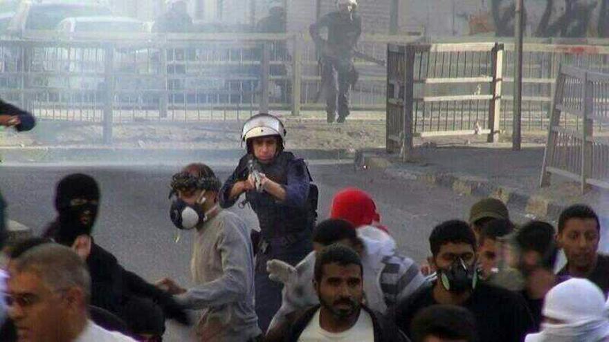 Represión policial de las protestas en Bahréin. / @saidyousif / aldaih yest