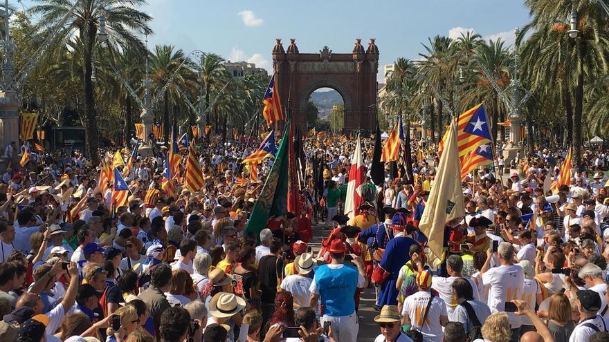 540.000 asistentes a la concentración de Barcelona según la Guardia Urbana