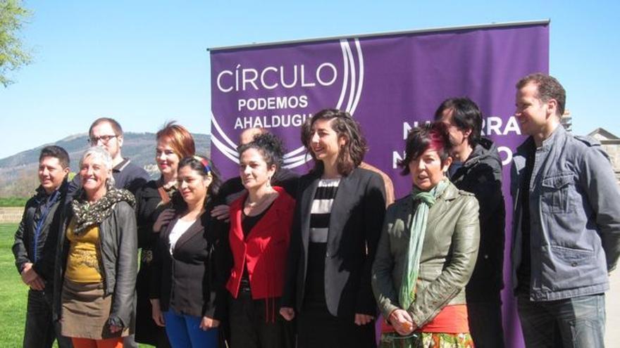 El equipo de Podemos Navarra.