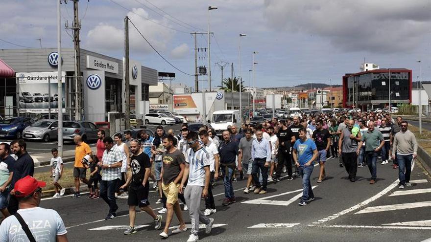 El paro del metal repite seguimiento mayoritario en Ferrol