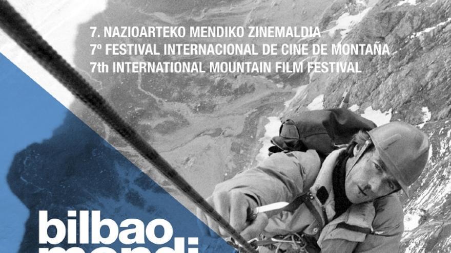 Cartel de la VII edición del Bilbao Mendi Film Festival.