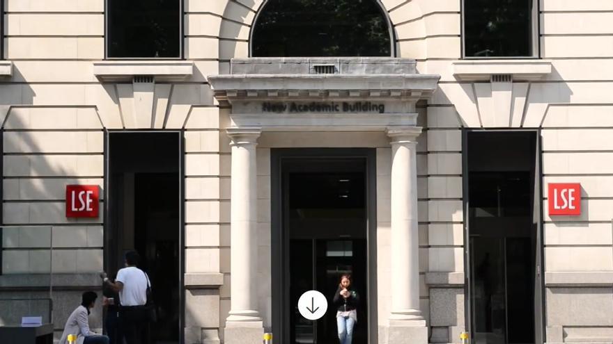 Captura de pantalla de la web de la London School of Economics (LSE)