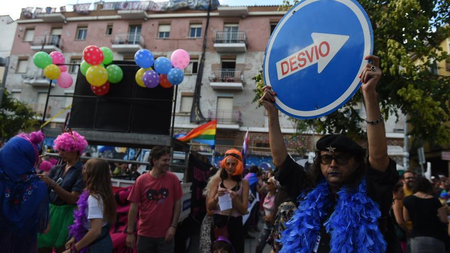 Manifestantes del Orgullo Crítico de 2017 en Madrid