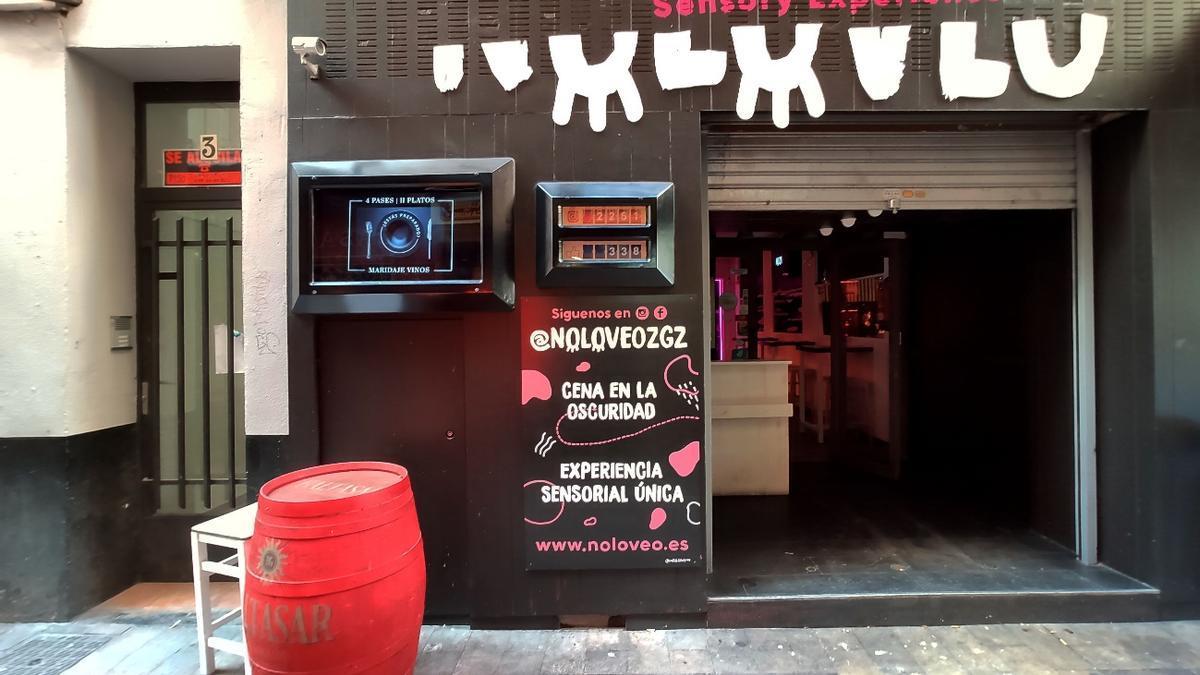 Fachada del restaurante Noloveo de Zaragoza.