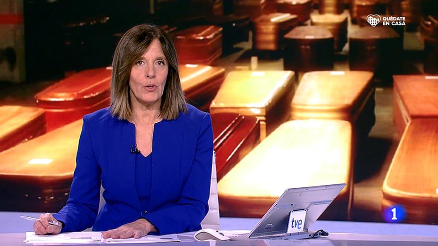 Ana Blanco en el Telediario de TVE