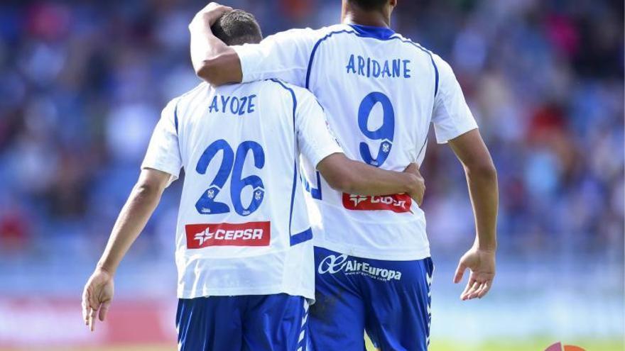 Ayoze Pérez y Aridane, claves en el primer tanto blanquiazul. LFP