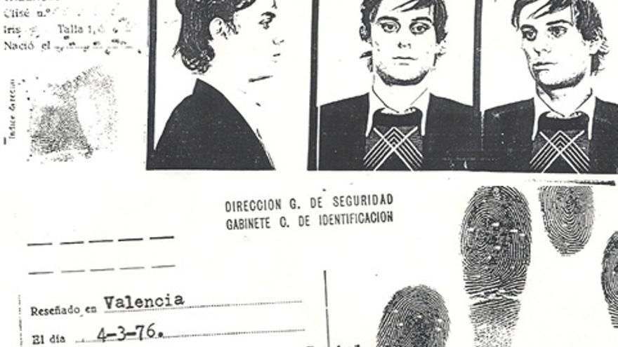 """En la ficha de Antoni de la época se recoge que su delito era ser """"homosexual"""""""