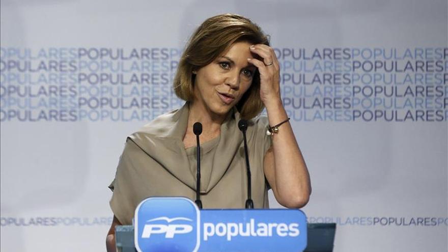 """Cospedal pide responsabilidad al PSOE ante una fórmula """"legalmente impecable"""""""