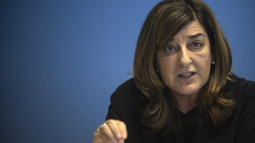 La presidenta del PP de Cantabria, María José Sáenz de Buruaga.   JOAQUÍN GÓMEZ SASTRE