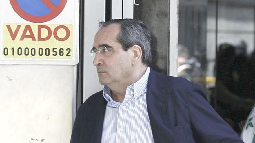 José Luis Martínez Parra, a su salida de un juzgado de León.