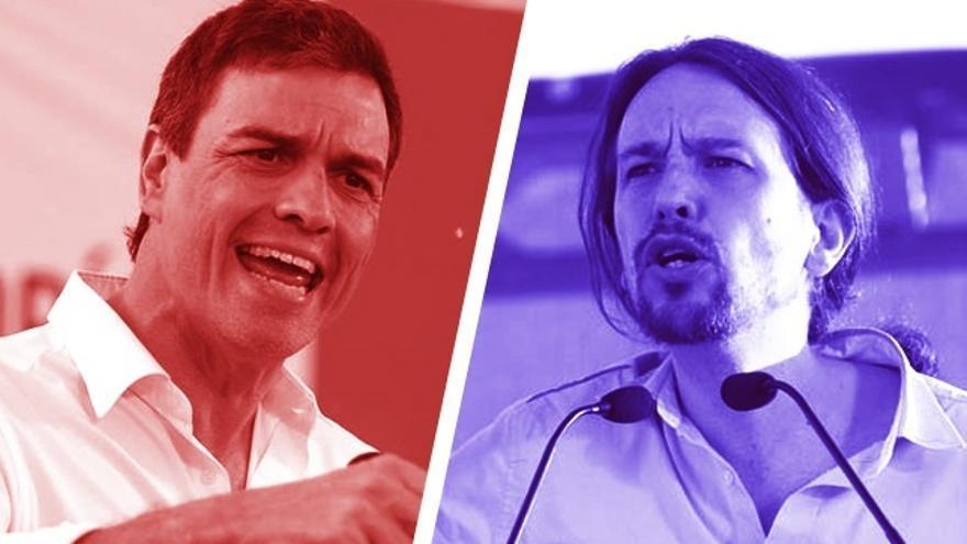 Podemos y sus socios sacan el referéndum del primer plano y exigen al PSOE que mueva ficha para poder investir a Sánchez