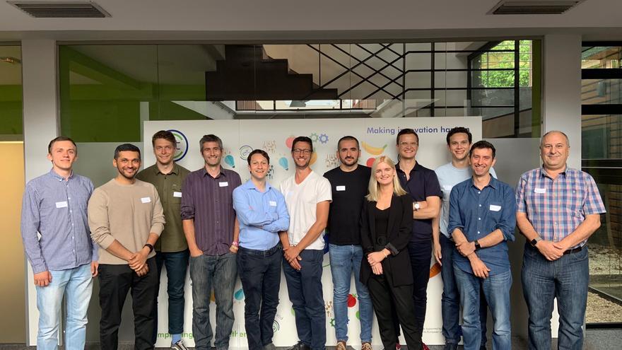 Participantes en la incubadora Seedbed en la edición anterior, que fue presencial, en la sede de EIT Food en el Parque Tecnológico de Bizkaia