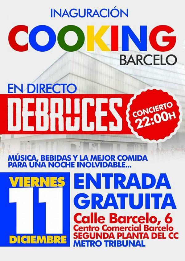 Cartel inauguración Cooking Barcelo
