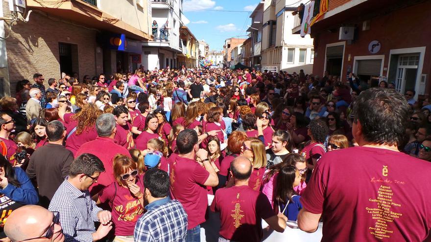 Milers de persones han participar a Montaverner a la Trobada d'Escoles en Valencià en la Vall d'Albaida