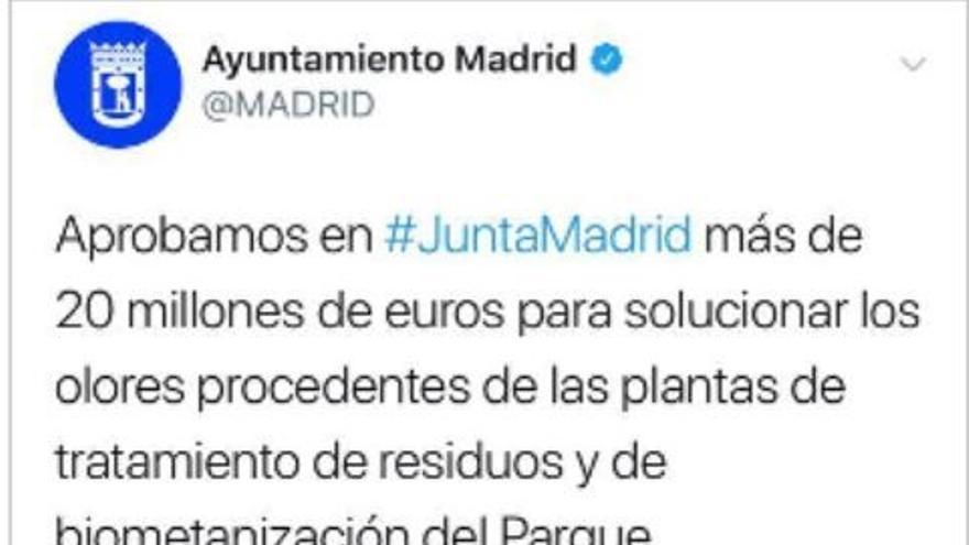 """La Junta Electoral considera que el Ayuntamiento de Madrid vulneró la ley electoral al hacer """"campaña"""" vía Twitter"""