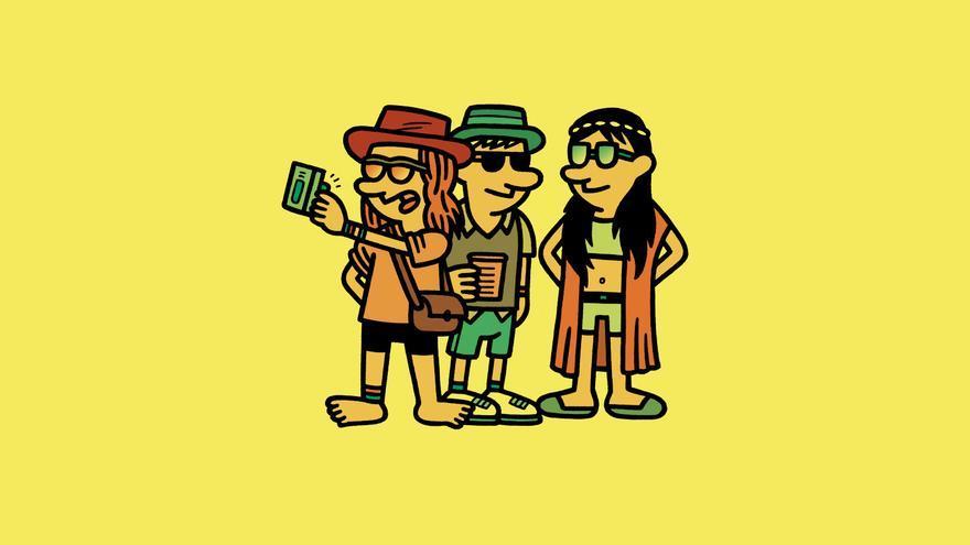 Festivaleros, dibujados por Manuel Bartual. /Foto: Lunwerg