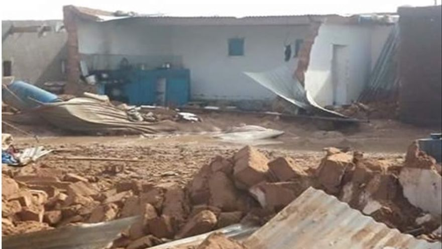 Las casas se han derrumbado con las intensas lluvias.