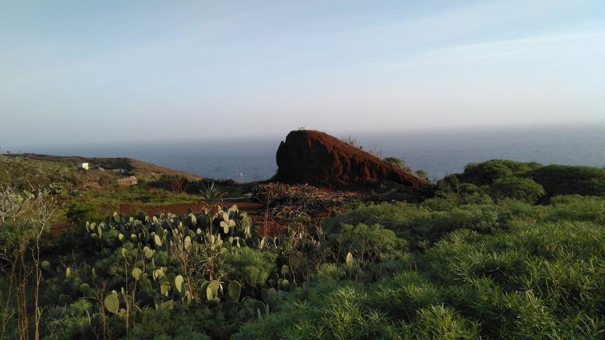 Restos de la actividad platanera junto al cruce de playa Nogales, en Puntallana