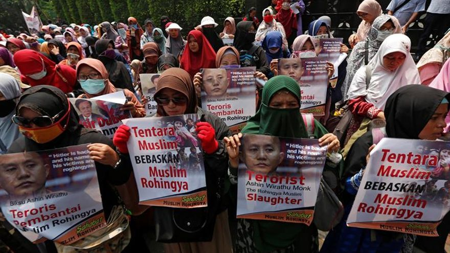 Las manifestaciones en Indonesia contra la persecución de los rohinyá en Birmania