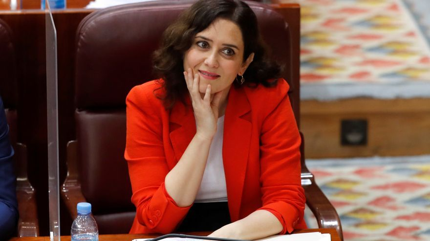 Isabel Díaz Ayuso en un pleno reciente de la Asamblea de Madrid.