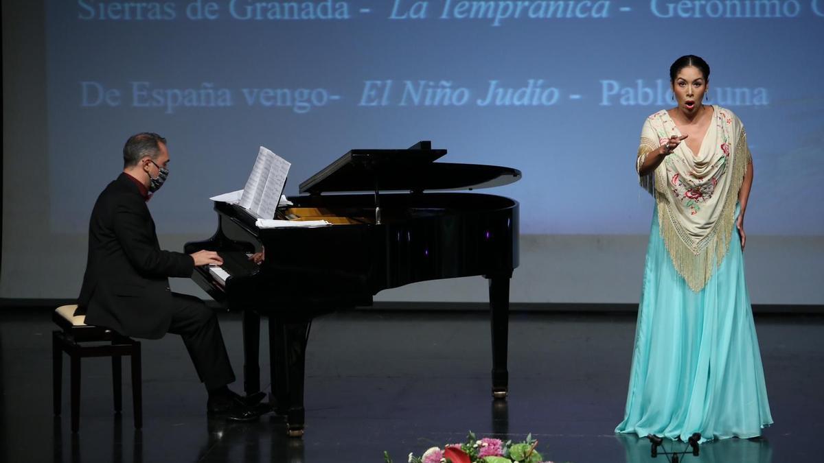 La cantante mexicana Zaida Ruiz, ganadora del VIII Certamen Internacional de Zarzuela de Valleseco, Gran Canaria.