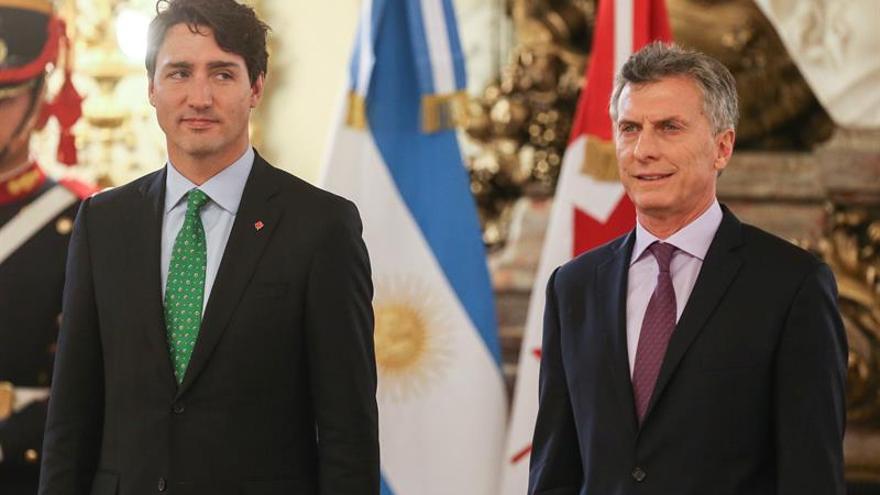 Trudeau y Macri acuerdan una amplia cooperación al relanzar relación la bilateral