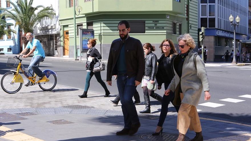 Los consejeros de Podemos en el Cabildo de Gran Canaria Miguel Montero, Ylenia Pulido y María Nebot