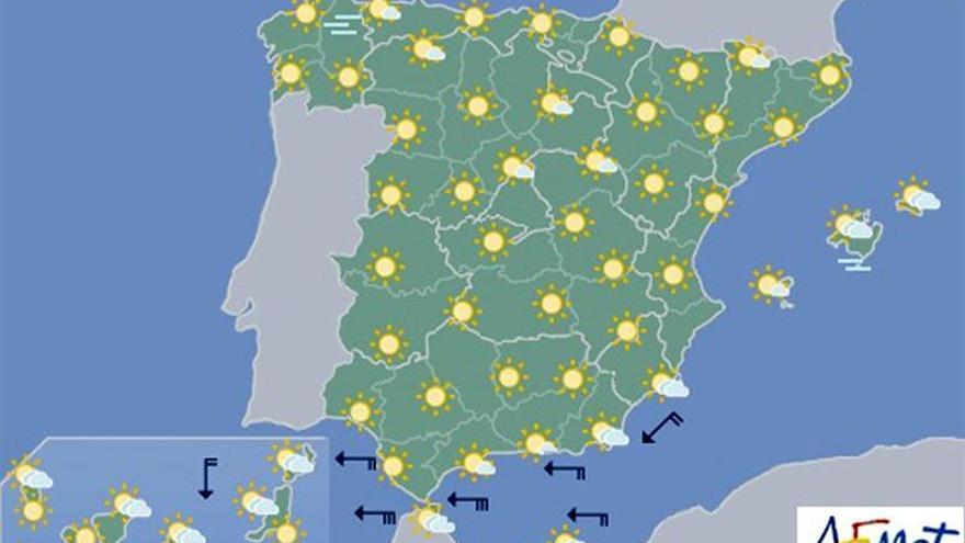Hoy, cielo despejado en casi toda España