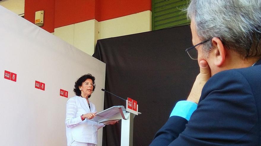 """Celaá dice que """"algo se mueve"""" en el soberanismo catalán y se avanza en resolver """"el problema desde la política"""""""