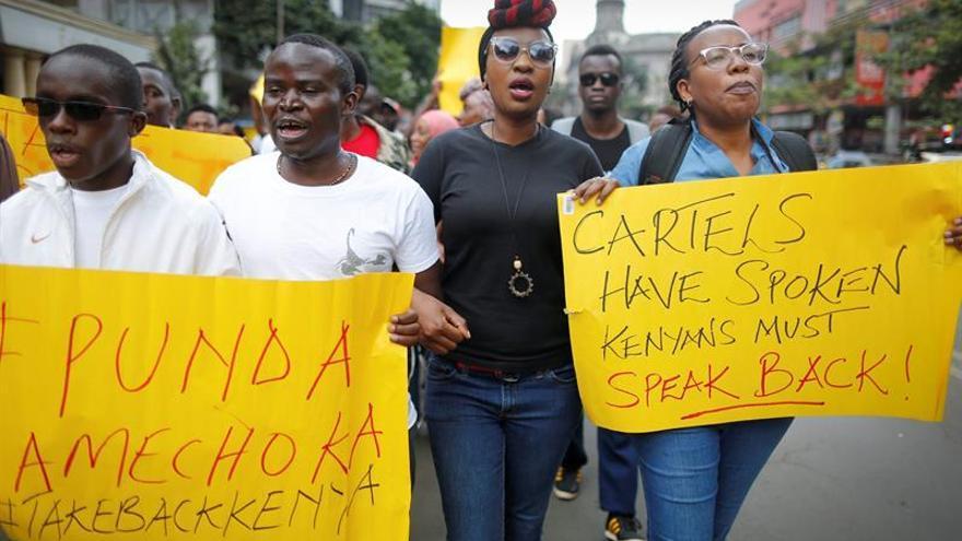 Tres detenidos al dispersar la policía una manifestación pacífica en Nairobi