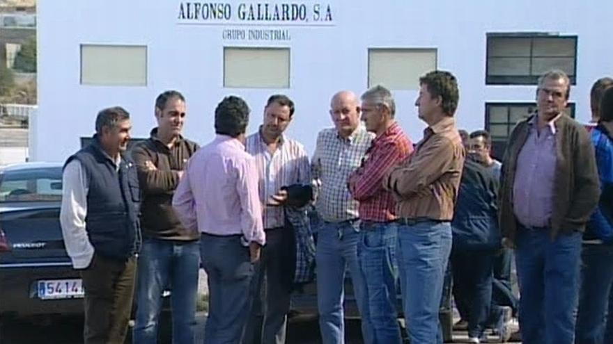 Un centenar de trabajadores de Alfonso Gallardo inicia una huelga indefinida por ERE planteado por la empresa