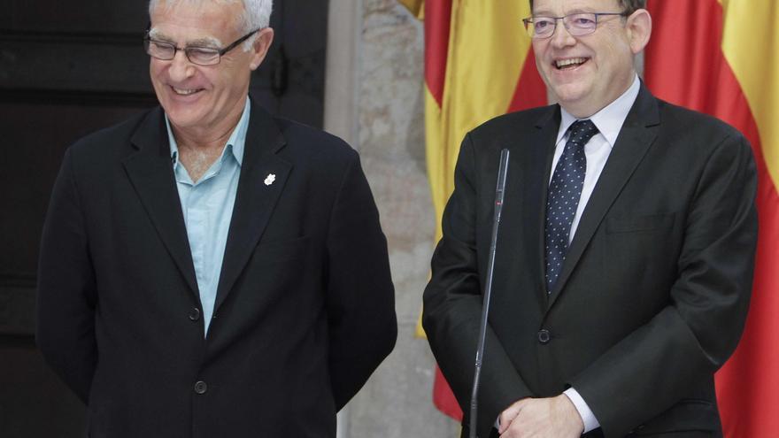 Joan Ribó y Ximo Puig, en el Palau de la Generalitat.