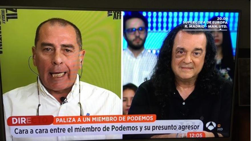 Fernando Barredo, a la derecha, en Espejo Público
