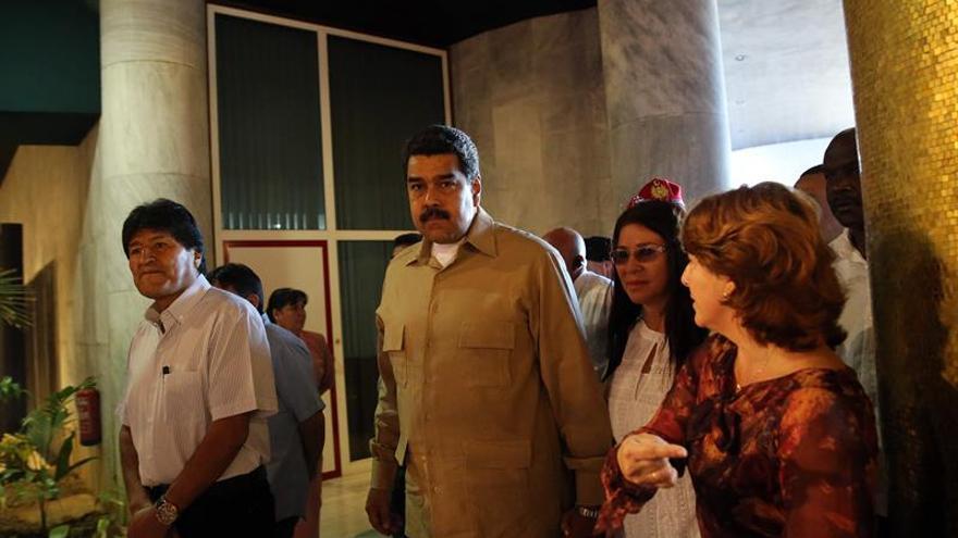 Maduro y Morales rinden tributo a Fidel Castro en la Plaza de la Revolución