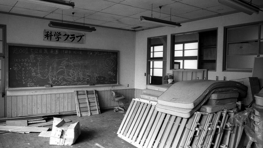 Una de las aulas abandonadas de la isla de Nagashima, que se crearon para los niños enfermos de lepra.