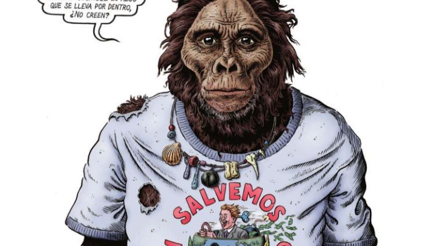 Ilustración de 'La gran aventura humana'