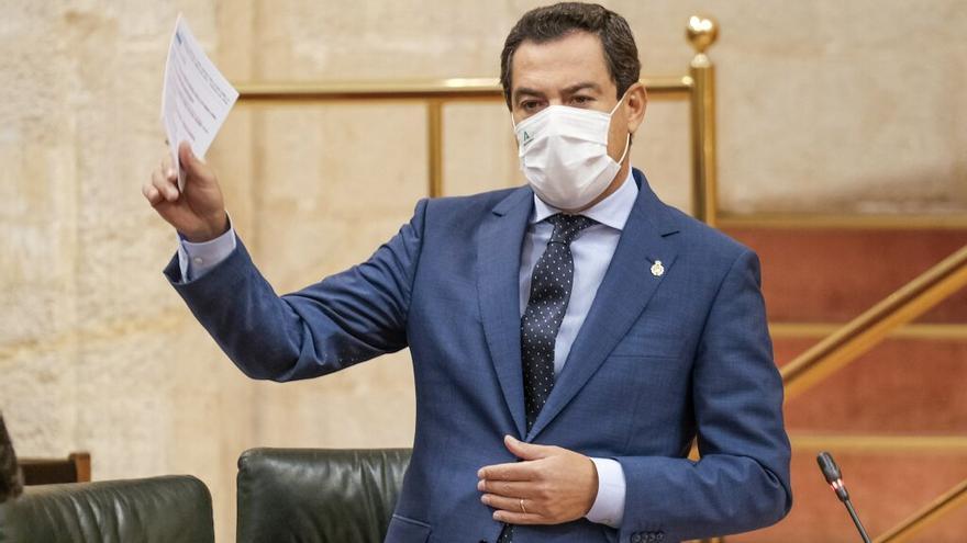 Moreno adelanta su programa electoral desde el Parlamento: incentivos por contratos fijos a jóvenes, rebaja en el transporte y vacunas gratis
