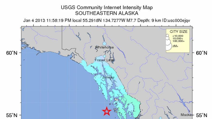 Aviso de tsunami tras seísmo de 7,6 frente a la costa de Alaska