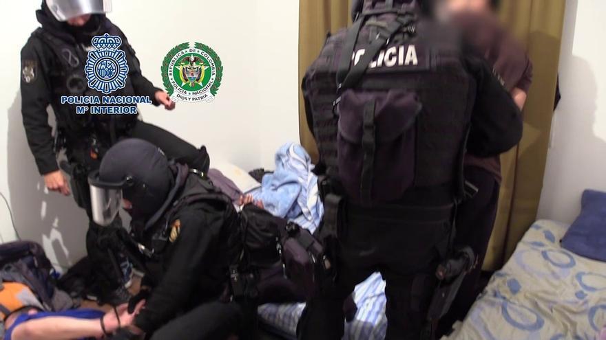 Detenido un disidente de las FARC en la primera operación conjunta contra laboratorios de cocaína en Colombia y España