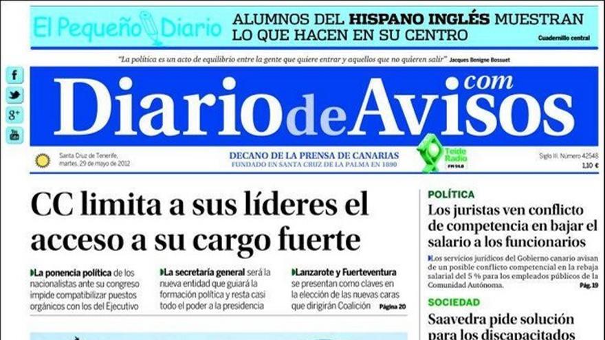 De las portadas del día (29/05/2012) #3