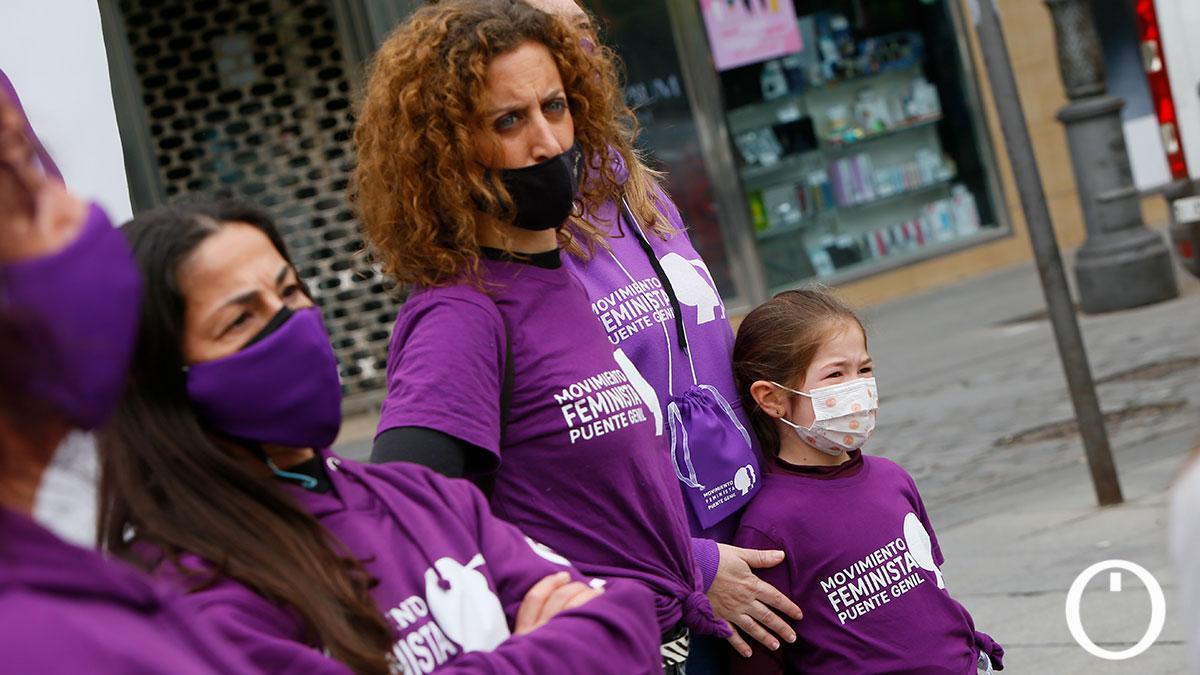 La Plataforma Cordobesa contra la Violencia a las Mujeres organiza una acción como previa al 8M en la Plaza de Las Tendillas