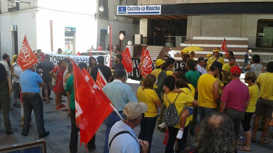 Manifestación GEACAM incendios Guadalajara Aleas y Bustares