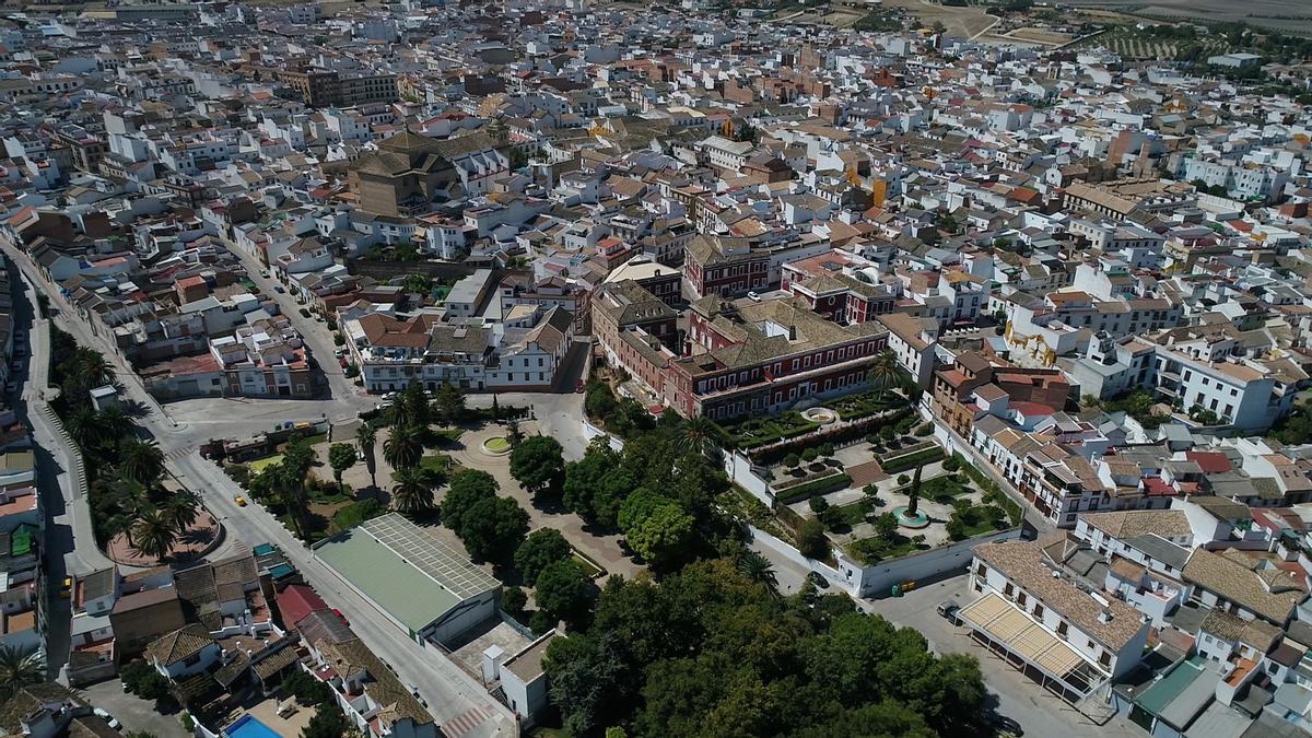 Vista aérea de Fernán Núñez.