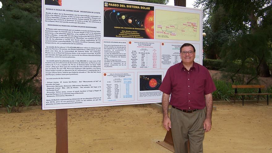 Gómez-Cambronero en el Paseo del Sistema Solar de Manzanares