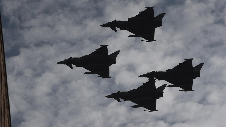 Eurofighters en pleno vuelo