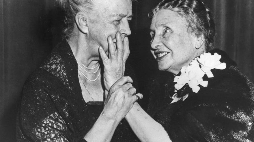 Hellen Keller y Eleanor Roosevelt