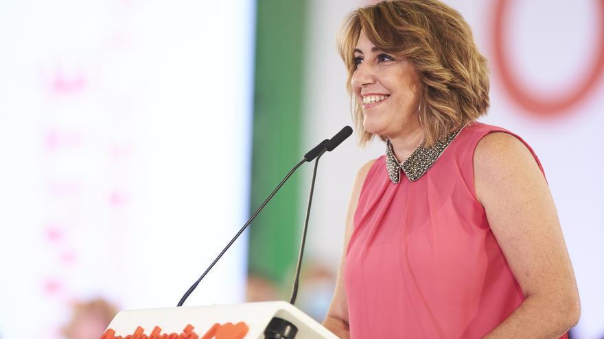 La secretaria general del PSOE.A, Susana Díaz, intervine en  la reunión del Comité Director extraordinario del PSOE-A, a 12 de julio del 2021 en Sevilla (Andalucía)