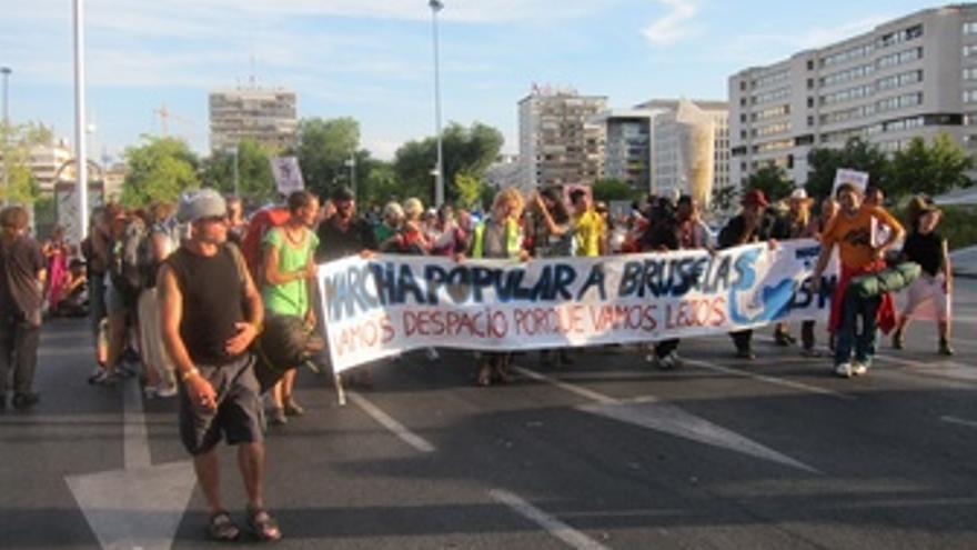 Marcha De 'Indignados' Del 15-M A Bruselas